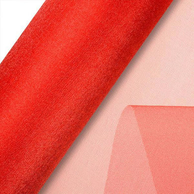 Red Plain Organza