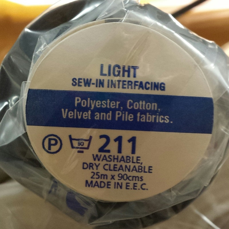 Charcoal Sew-in Interfacing Light V211