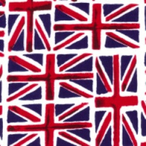 Union Jacks Cotton Print