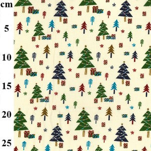 Cream Trees - Christmas Print