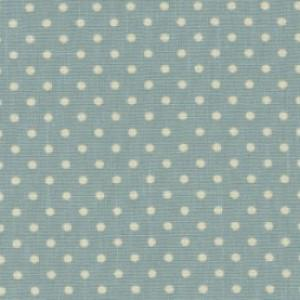 Sky Cotton Canvas Spot Print