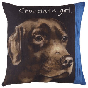 Chocolate Girl Cushion