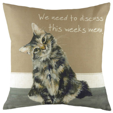 Cat Menu Cushion