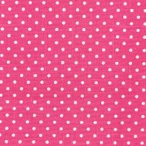 Cerise Cotton Canvas Spot Print
