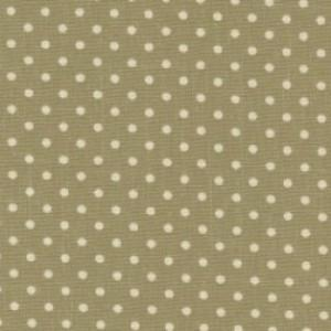 Green Cotton Canvas Spot Print