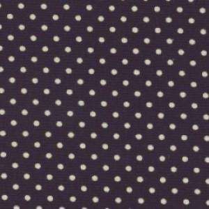 Navy Cotton Canvas Spot Print