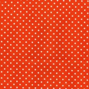 Orange Cotton Canvas Spot Print