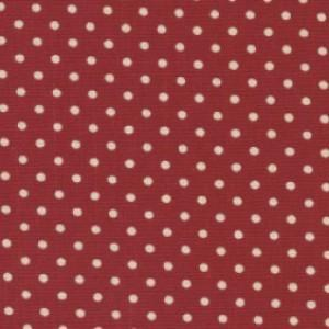 Red Cotton Canvas Spot Print