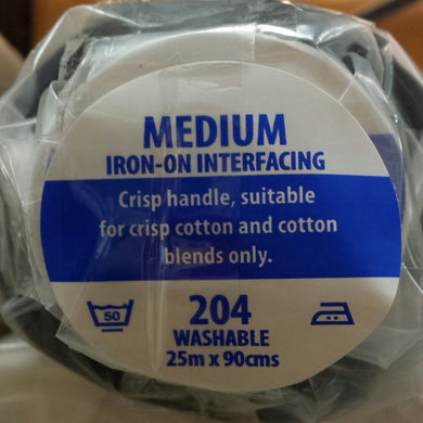 Charcoal Iron-on Interfacing Medium V204
