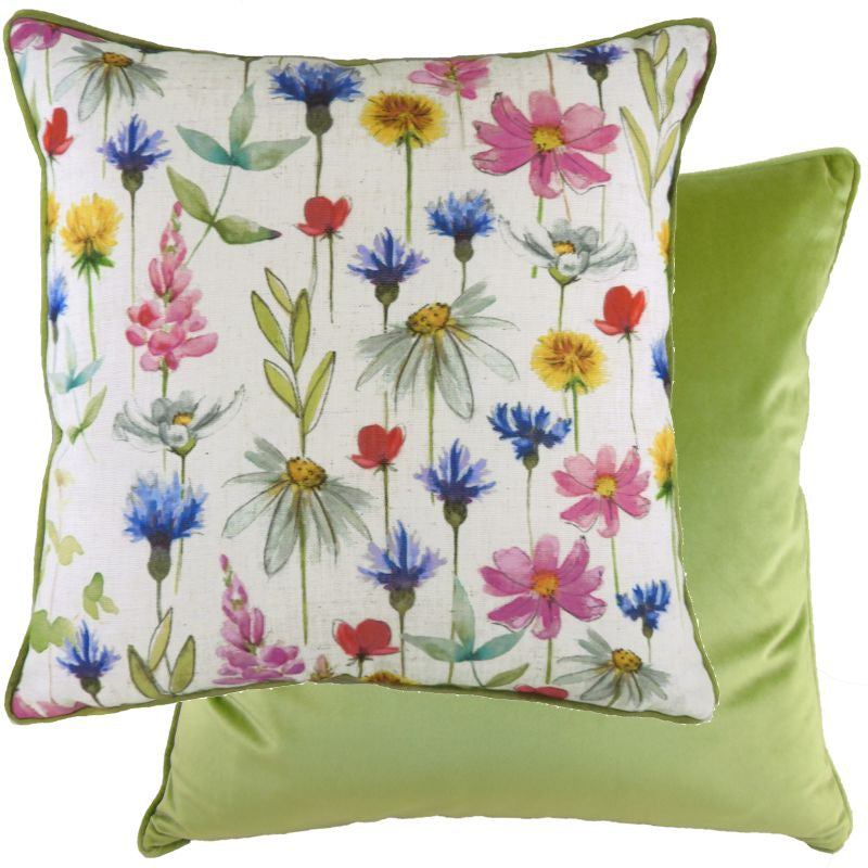 Piped Wild Flowers Sophia Cushion