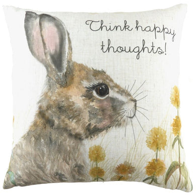 Woodland Hare Thoughts Cushion