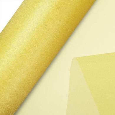 Yellow Plain Organza