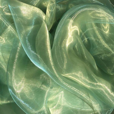 Green Two Tone Organza
