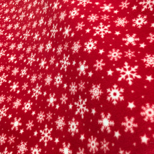 Red Snowflake Fleece