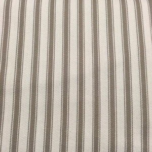 Taupe Canvas Ticking Stripes