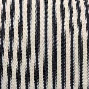 Black Canvas Ticking Stripes