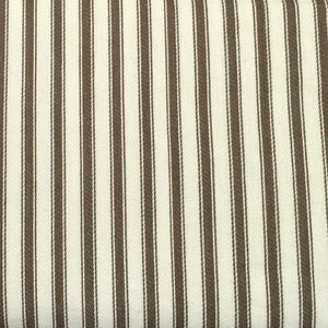 Brown Canvas Ticking Stripes