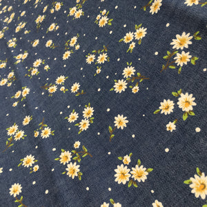 Denim Flowers Print
