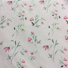 Load image into Gallery viewer, Pink Floral Cotton Poplin