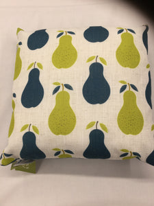 Retro Pears Denim Cushion