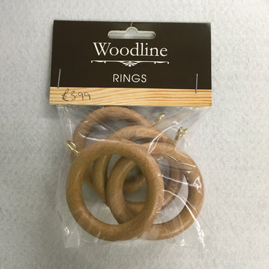 Light Oak Woodline Rings - 28mm