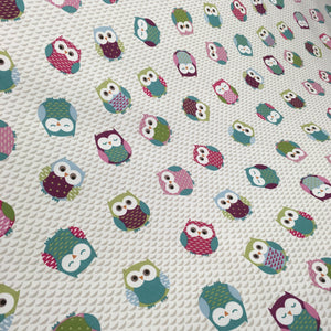Multi Owls Fabric