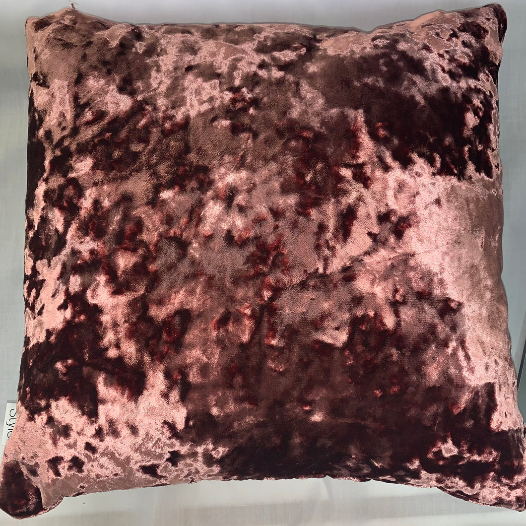 Dusky Pink Crush Velvet Cushion