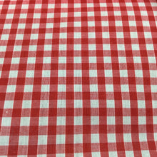 "Load image into Gallery viewer, Red 1/4"" Checks Gingham"