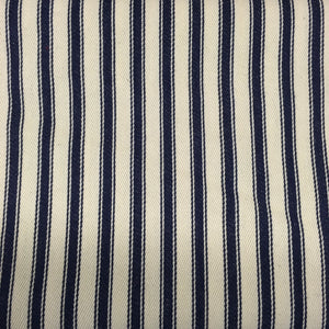 Navy Canvas Ticking Stripes
