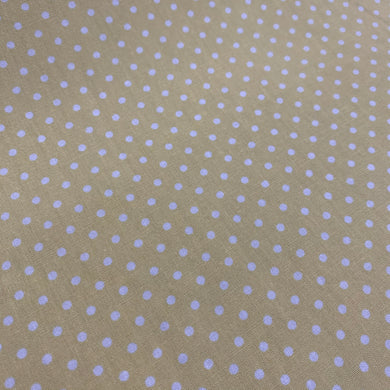 Lemon Cotton Poplin - Spots 10mm