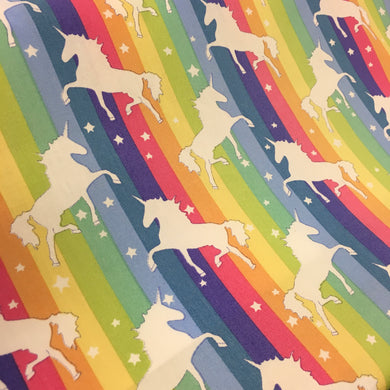 Bright Unicorns Cotton Poplin