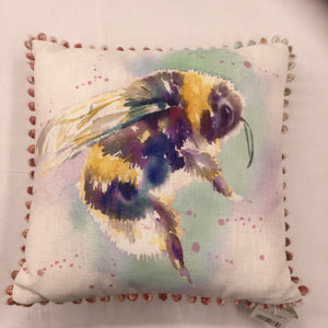 Bee Bobble Trim Cushion