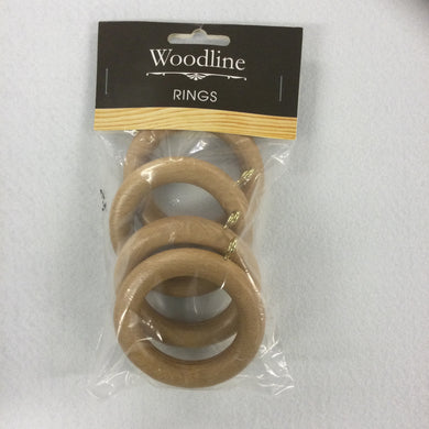 Light Oak Woodline Rings - 35mm