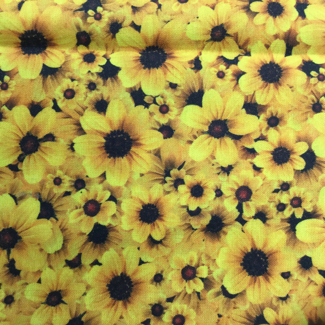 "Yellow Flowers 60"" Cotton print"