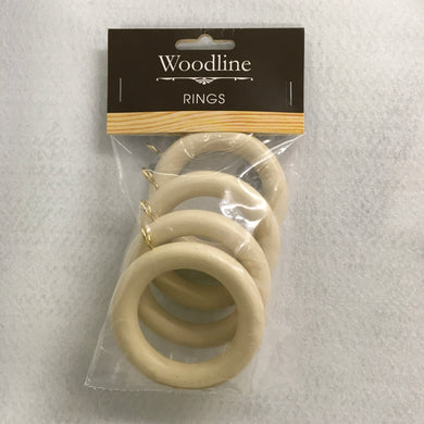 Cream Woodline Rings - 35mm