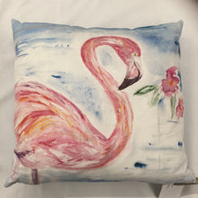 Load image into Gallery viewer, Large Flamingo Cushion