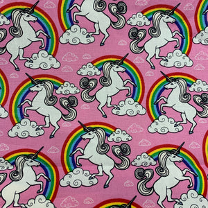 Pink Unicorns Cotton Poplin