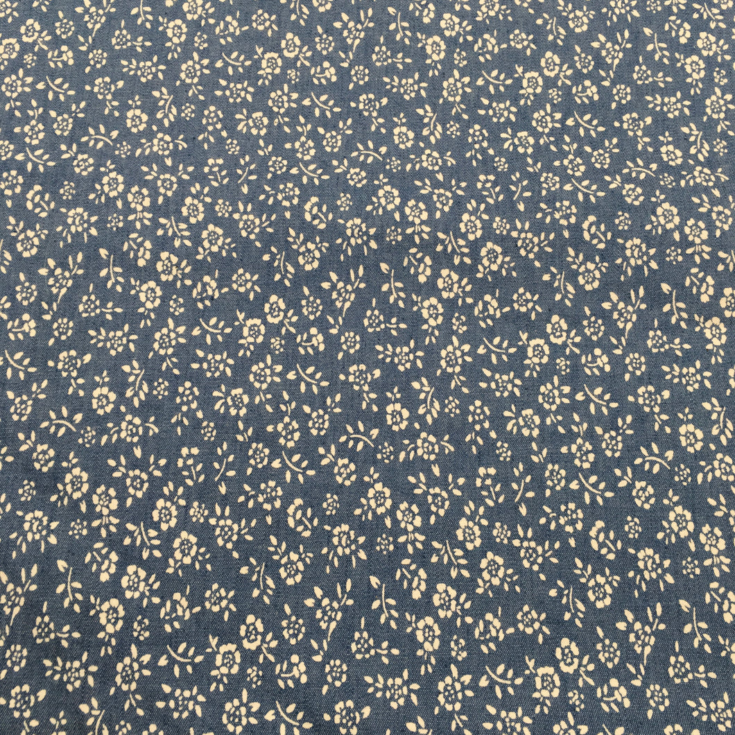 Light Denim Flower Print