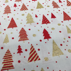 Ivory Gold Trees - Christmas Print