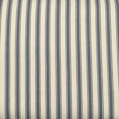 Grey Canvas Ticking Stripes