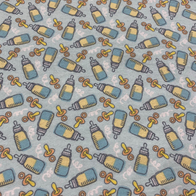 Blue Bottle Cotton Flannel Print