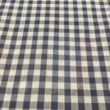 "Load image into Gallery viewer, Navy 1/4"" Checks Gingham"