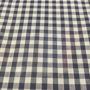 "Navy 1/4"" Checks Gingham"