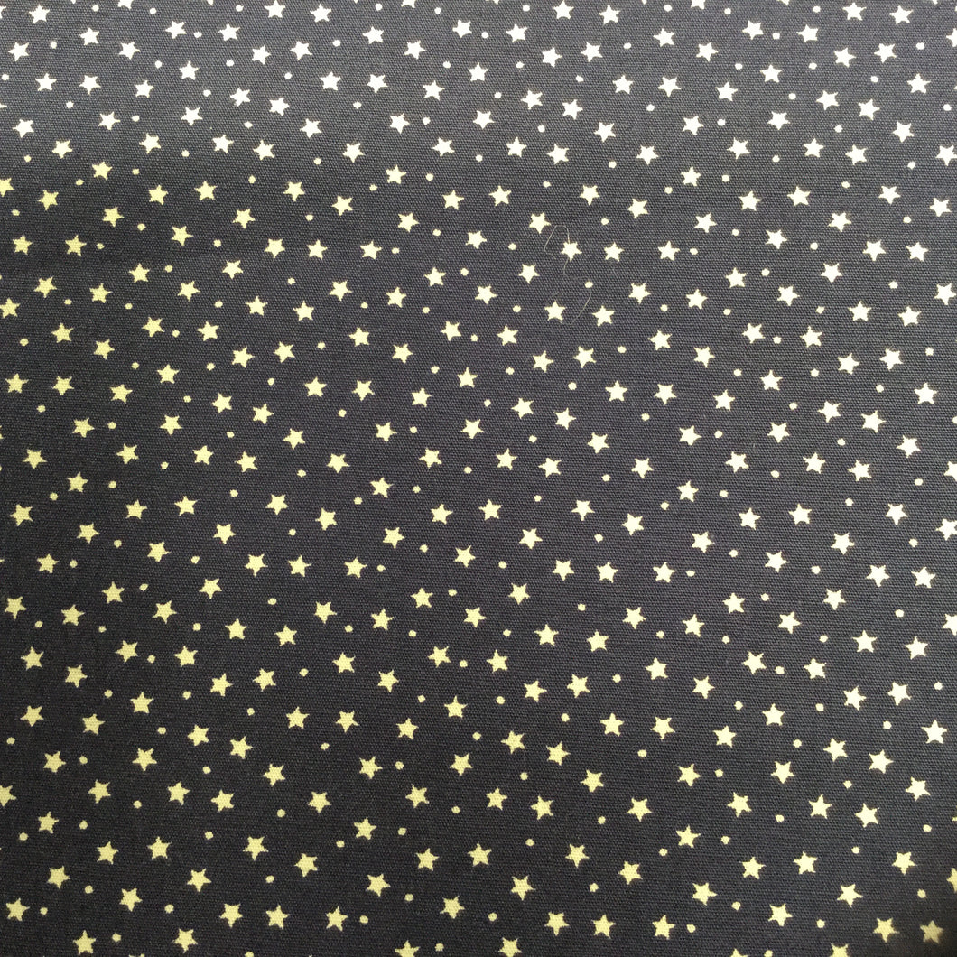 Navy Stars Cotton Poplin