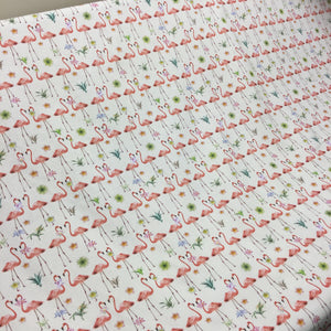 Flamingos Cotton Poplin