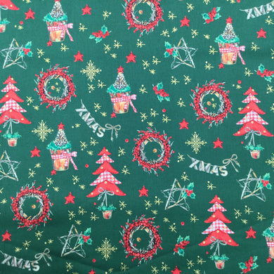 Green Decorations - Christmas Print