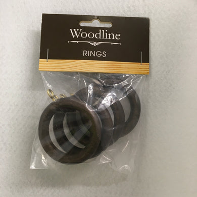Dark Oak Woodline Rings - 28mm
