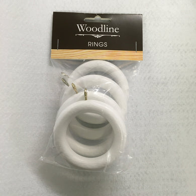 White Woodline Rings - 35mm