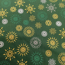 Load image into Gallery viewer, Green Snowflakes  - Christmas Print