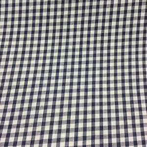 "Navy 1/8"" Checks Gingham"